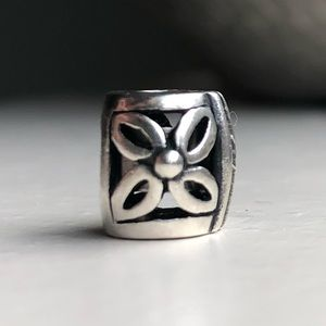 Bracelet charm, silver 925, stopper